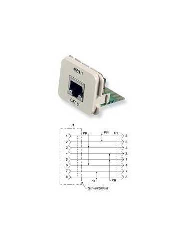 Insert CO Plus 1 x RJ45 cat.5e 1Gb/s, White COMMSCOPE - 1