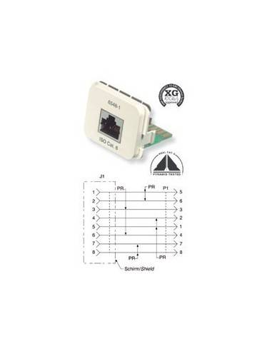 Insert CO Plus 1 x RJ45 cat.6 1Gb/s, Black COMMSCOPE - 1