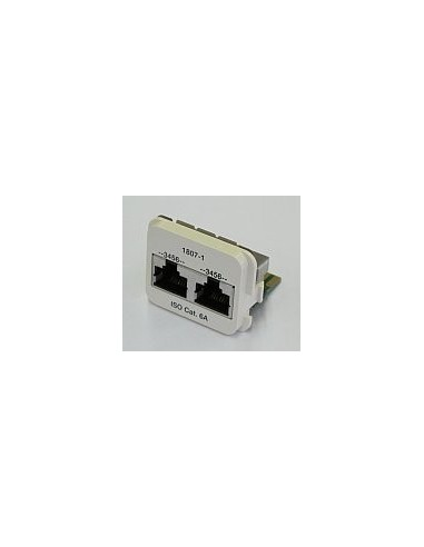 Insert CO Plus 2 x RJ45 cat.6A ISDN, Black COMMSCOPE - 1