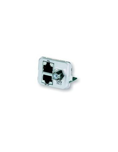 Insert CO Plus 2 x RJ45 + 1 x CATV, Almond COMMSCOPE - 1