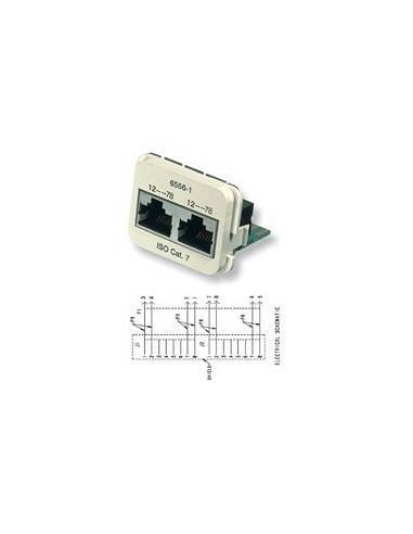 Insert CO Plus 2 x RJ45 cat.7, Almond COMMSCOPE - 1
