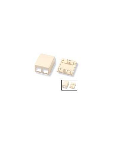 KIT, SINGLE PORT MODULAR JACK BOX, ALMOND COMMSCOPE - 1