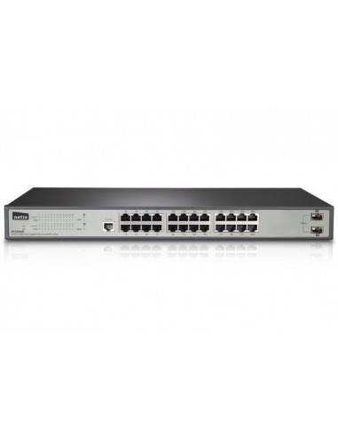 SNMP мрежови суич с 24 гигабитови портове + 2 SFP порта NETIS SYSTEMS - 1