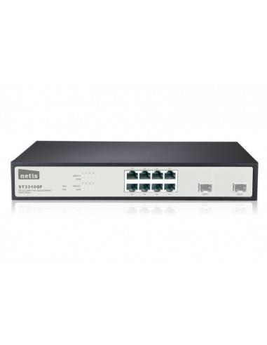 Гигабитов суич 8GE + 2 SFP оптични порта с SNMP NETIS SYSTEMS - 1