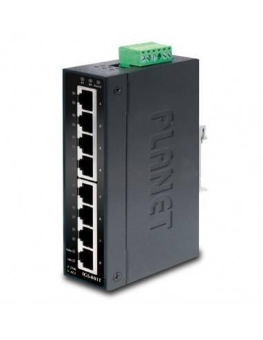 8 портов 10/100/1000Mbps индустриален мрежови суич (-40~75 Degree C) Planet - Тайван - 1