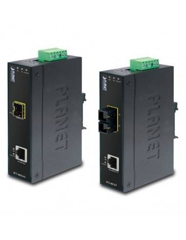 10/100Base-TX to 100Base-FX Индустриален медиа конвертор - 2km (-40~75 degrees C) Planet - Тайван - 1