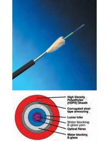 Fiber optic cable12 fibers, HDPE, Steel armoring, OS2 COMMSCOPE - 1