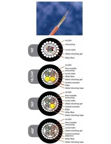 FO CABLE 12 Fibers, ULSZH, LDPE, OM4 XGa COMMSCOPE - 1