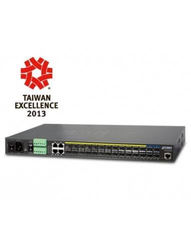 SFP суич 24 порта 100/1000Base-X SFP с 4 порта 10G SFP+ L2/L4 управляем метро суич Planet - Тайван - 1