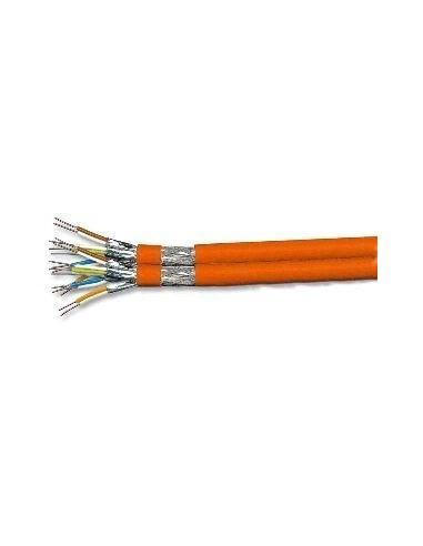 CAT. 7a solid cable 1000MHz, PiMF, 2x4x2xAWG23/1, orange, LS0H - 500 m DRAKA  Draka - 1