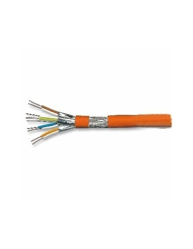 Cable cat. 7a PiMF solid 1000MHz, 4x2xAWG23/1, orange, LS0H - 100 m  - 1
