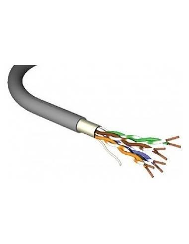 CAT.5e solid cable, 200MHz, F/UTP, 4x2xAWG24/1, PVC - 100 m, MegaC  MegaC - 1