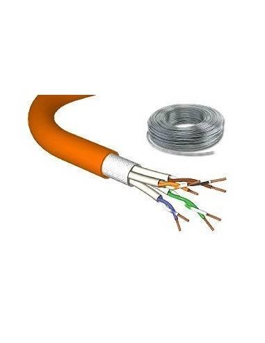 DRAKA UC900 CAT.7 stranded cable 1000MHz, PIMF SF/UTP, 4x2xAWG27/7, LS0H, orange - 100 m Draka - 1