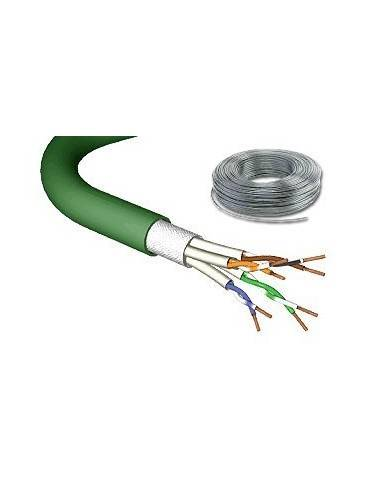 DRAKA UC900 CAT.7 stranded cable 1000MHz, PIMF SF/UTP, 4x2xAWG27/7 LS0H, green - 100 m  - 1