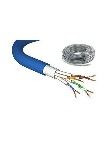 DRAKA UC900 CAT.7 stranded cable 1000MHz, PIMF SF/UTP, 4x2xAWG27/7, LS0H, blue-100m Draka - 1