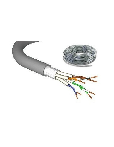 CAT.7 stranded cable 1000MHz ,PIMF SF/UTP, 4x2xAWG27/7, LS0H, grey-100m DRAKA UC900  - 1