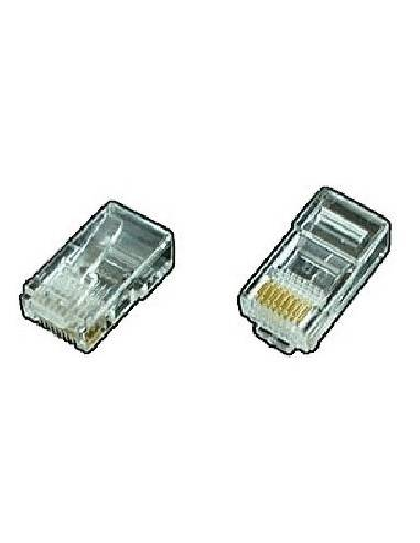 Telephone modular plug short version, RJ45 8P8C for flat cable and UTP cable  - 1