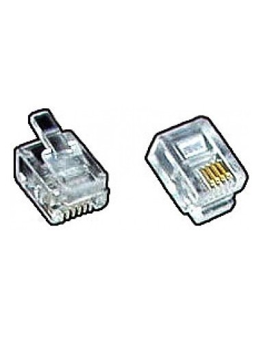 modular plug, RJ12 6P6C for flat cable  - 1