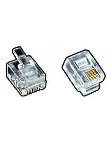 modular plug, RJ11 6P4C for round cable  - 1