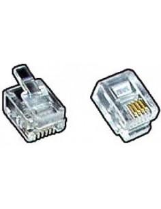 modular plug, RJ11 6P4C for...