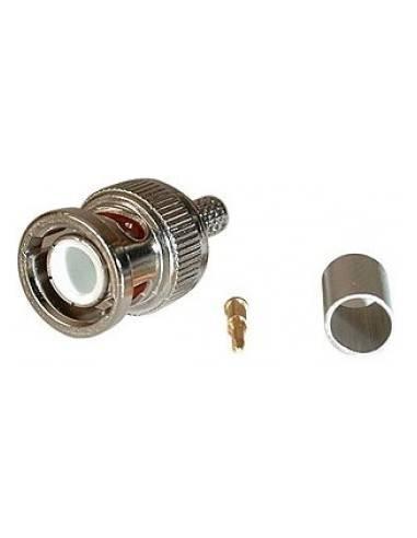 BNC plug, crimp RG 59/62, 75/93 ohms, UG1789/U  - 1