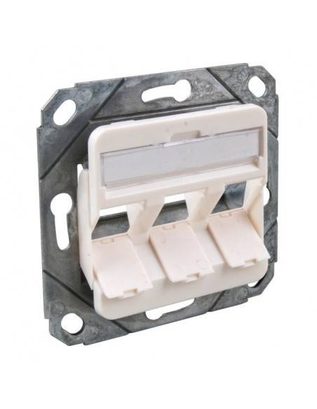 Wallplate for 3 modules RJ45, unloaded, white MegaD - 1