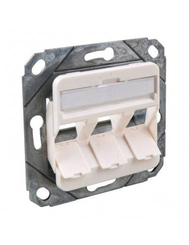 Wallplate for 2 modules RJ45, unloaded, white MegaD - 1