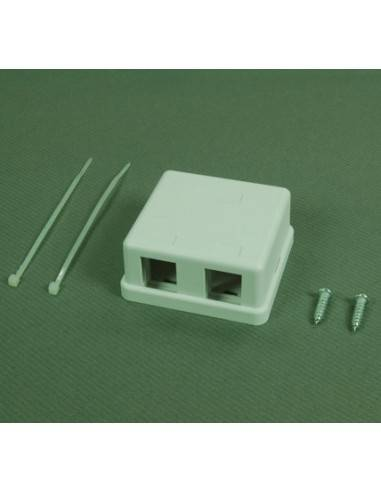Two ports surface mount box for keystone jack Linkbasic - 1