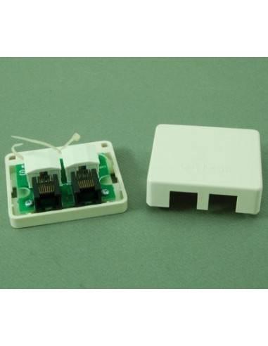 Wall mount outlet 2 ports cat. 5e UTP Linkbasic - 1