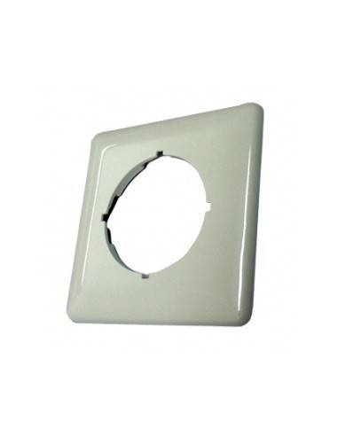 flush mount plate, 80x80mm, RAL9010 SETEC 511020 u. MegaC/D/F  - 1