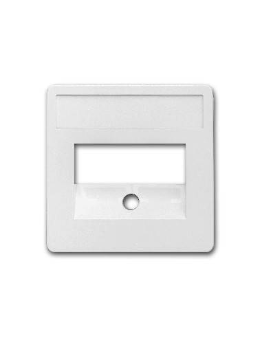 SETEC central plate, 50x50mm, RAL9010, for 2x RJ45  - 1