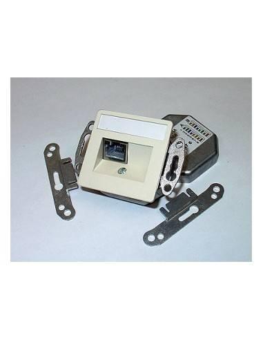 SETEC CAT.6a wallplate UPEK, 1x RJ45 STP, RAL9010, horizontal - left / right  - 1