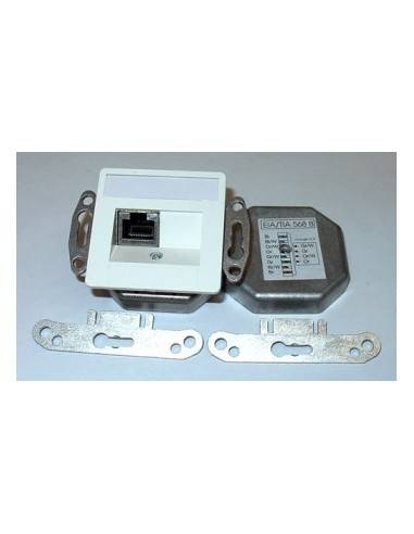 SETEC CAT.5e wallplate UPEK, 1x RJ45 STP, RAL9010, horizontal - left / right  - 1