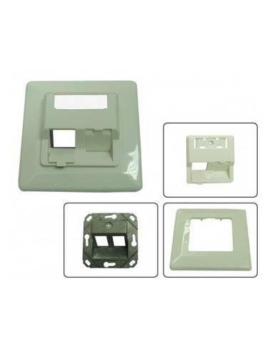 MegaD module system, wallplate UP, RAL9010, for 2 modules MegaD - 1