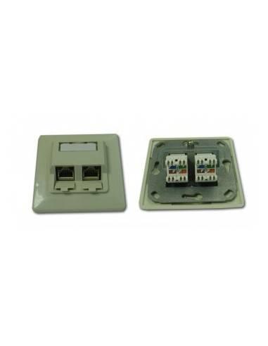 wallplate cat. 5e UP RAL1013, 2x RJ45, STP, complete MegaC MegaC - 1