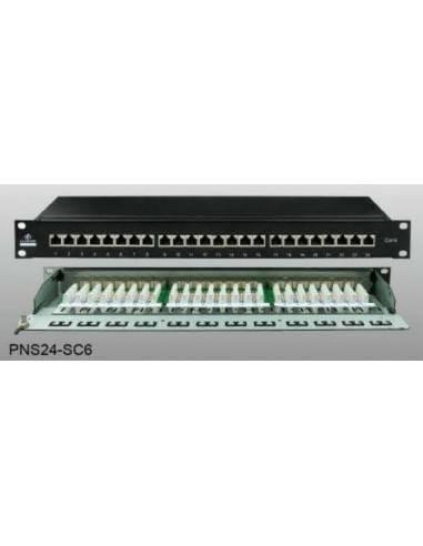 Cat 6 FTP 24-port patch panel, loaded Linkbasic - 1
