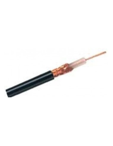 BNC Thinwire Ethernet coaxial cable, 50 ohms, double shielded, grey - 100m  - 1