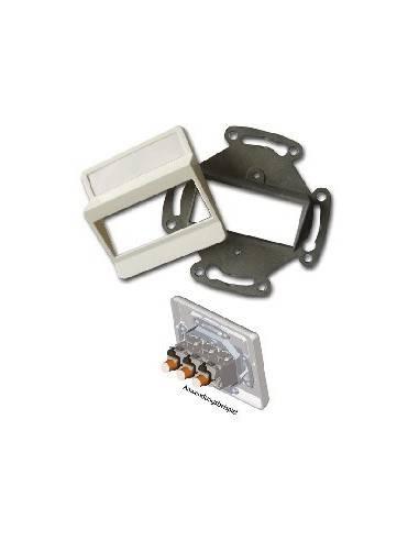 SETEC module system, wallplate UPEK, RAL9010, for 3 module XKJ  - 1