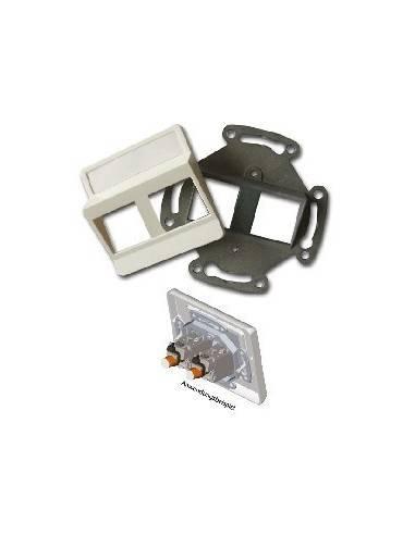 SETEC module system, wallplate UPEK, RAL9010, for 2 module XKJ  - 1