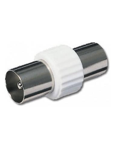 SAT Koaxial Adapter Stecker an Kupplung  - 1