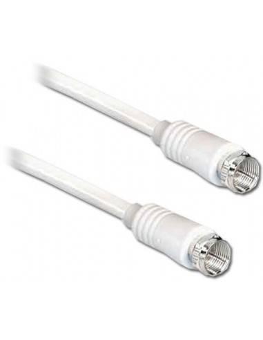SAT Kabel,75 Ohm,weiss-5.0m 3C-2V,95dB,F-Stecker an F-Stecker  - 1