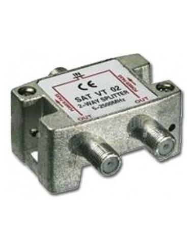 SAT Verteiler,5-2450MHz,2-fach digital tauglich,7.5dB Daempfung  - 1