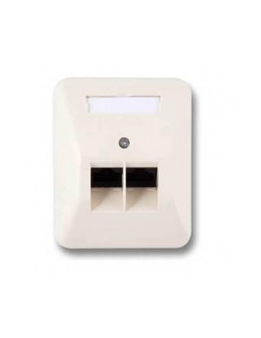 ISDN wallplate, AP, 2x8/8, LSA+, RAL1013, bus circuit  - 1