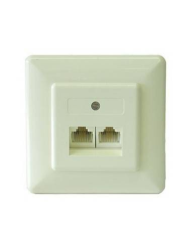 ISDN wallplate, AP, 2x 8/4, bus circuit, termination via jumper  - 1