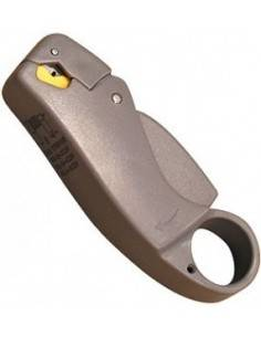 Coaxial cable stripper with...