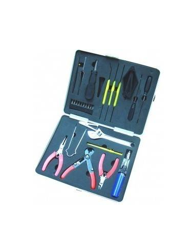 Computer service kit, 17 pieces, with solder tools  - 1