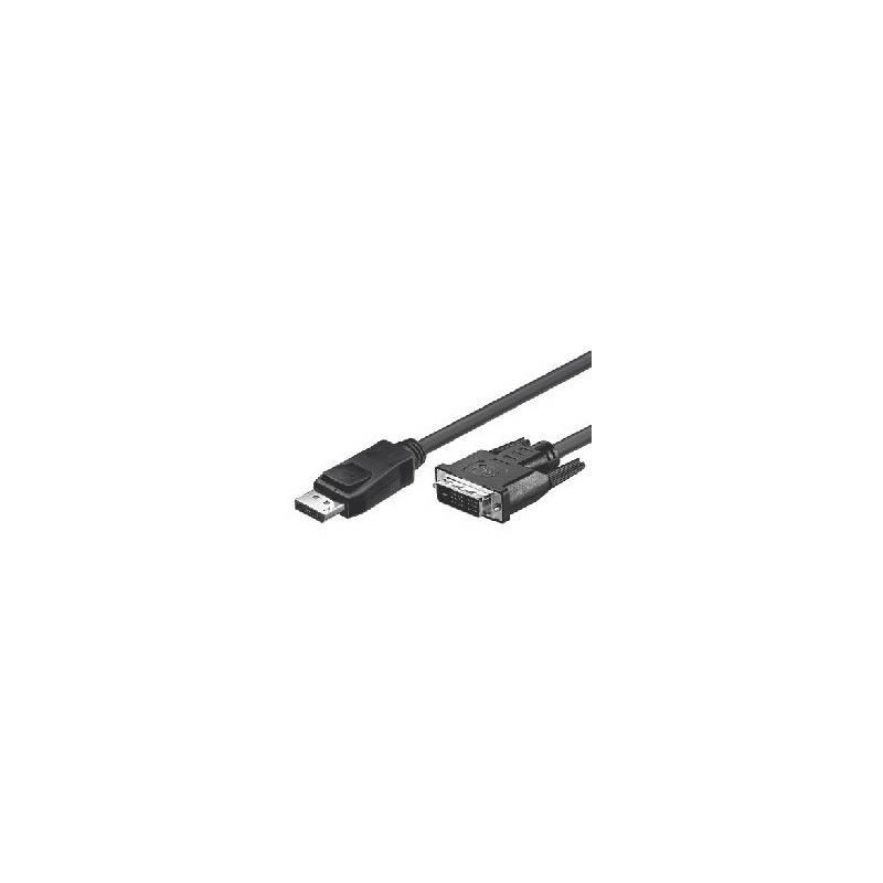 DisplayPort Cable, DP20 plug - DVI-D (24+1) plug  - 1