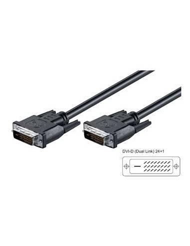DVI-D Connection Cable, dual link, DVI-D(24+1) male - DVI-D(24+1) male - 2 m  - 1