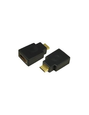 HDMI Adapter, HDMI19 Type A female - HDMI19 Type C mini, Gold  - 1