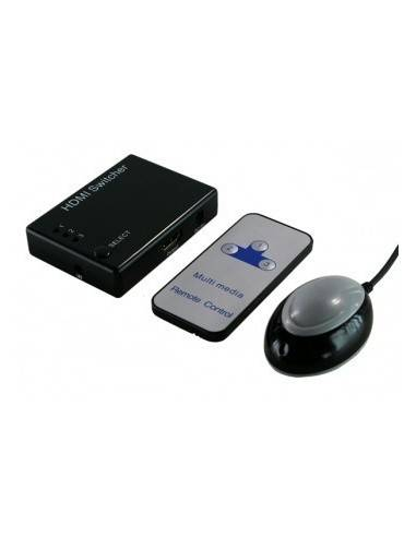 LOGILINK HD0003 Mini HDMI Switch 3-port 3xHDM to 1xHDMI 19P-F,Remote  - 1
